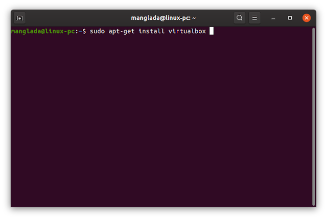 apt-get install virtualbox