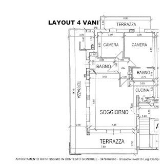 appartamento-quadrivano-vendita-Grosseto-stadio, layout 4 vani