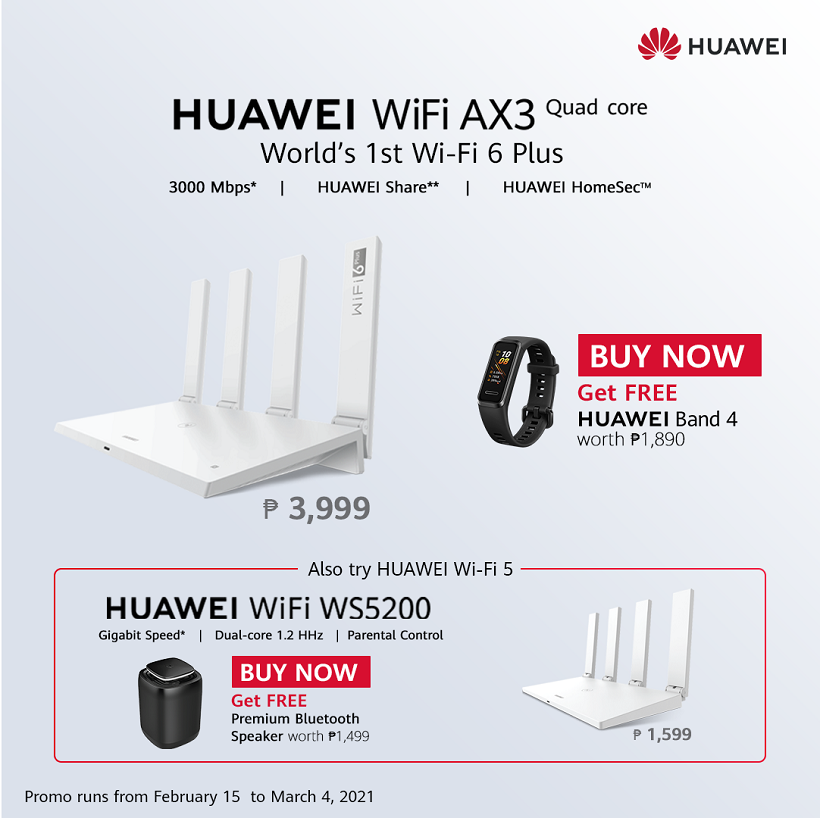 Perform at your Best: HUAWEI WiFi 6+ AX3 now open for pre-order