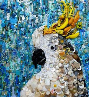 Arte elaborado con abalorios