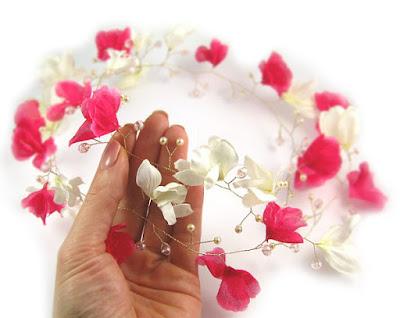 Wianek ślubny - magnolie.