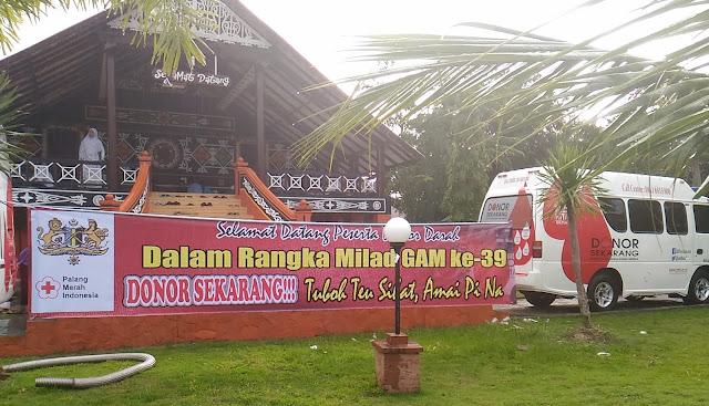 Milad GAM di Banda Aceh Sumbang 48 Kantong Darah