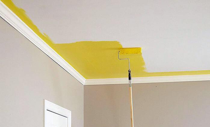 cara mengecat siling rumah