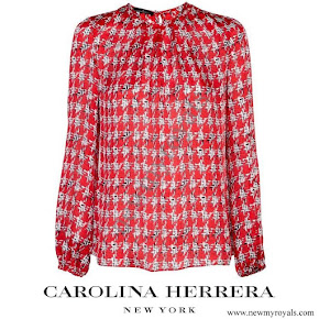 Queen Letizia wore Carolina Herrera blouse
