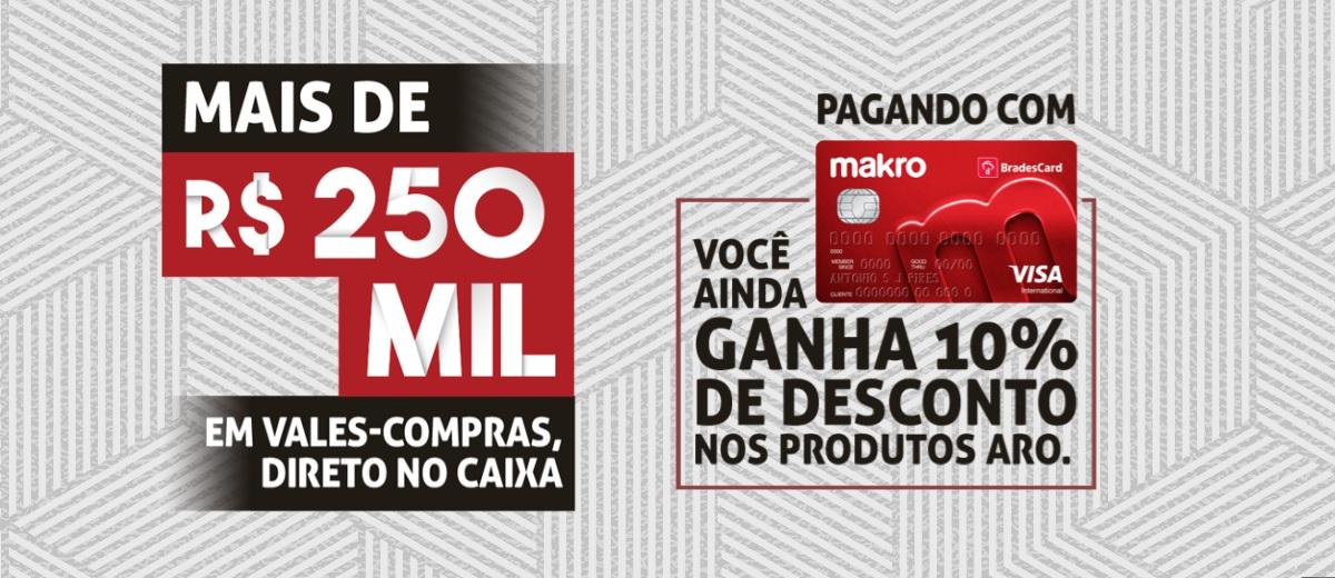Promoção Makro 40 Anos Aro Produtos