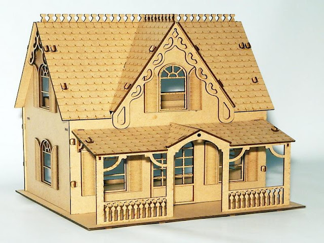 Кукольный домик лазерная резка
