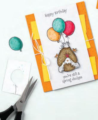 Birthday card idea using Stampin' Up! Hey Birthday Chick Bundle