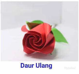 Contoh Ide Kreatif Bunga Mawar Dari Kertas