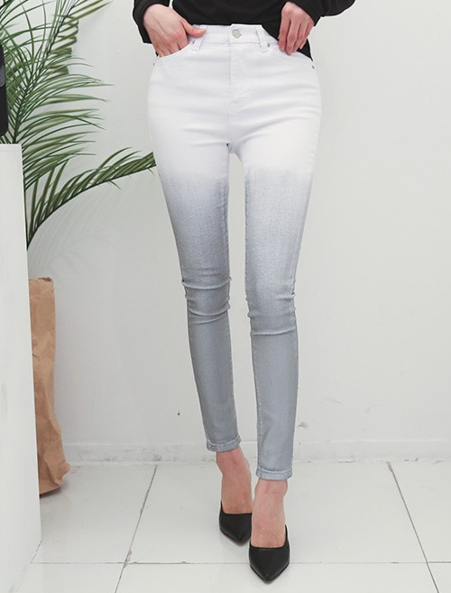 Faded Ombre Skinny Jeans