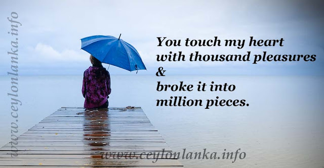 You touch my heart with thousand pleasures