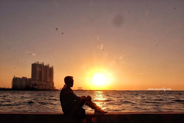 foto sunset di jakarta