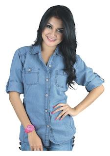 kemeja jeans wanita terbaru, kemeja jeas wanita murah, kemeja jeans wanita bandung