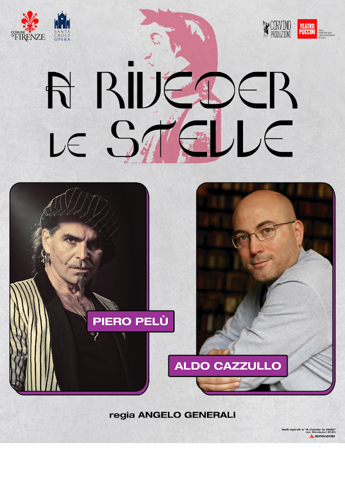 Piero Pelù e Aldo Cazzullo , al via il tour ''A riveder le stelle''