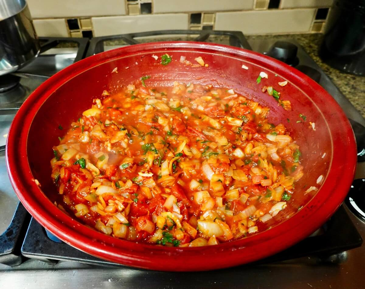 Sauce for shrimp tagine