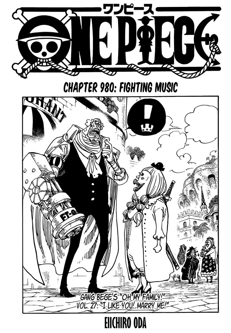 One Piece Manga Chapter 980 - Image 001