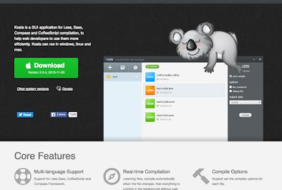 Compilez vos fichiers sass, less et coffeescript gratuitement avec Koala, A Unix Mind In A Windows World