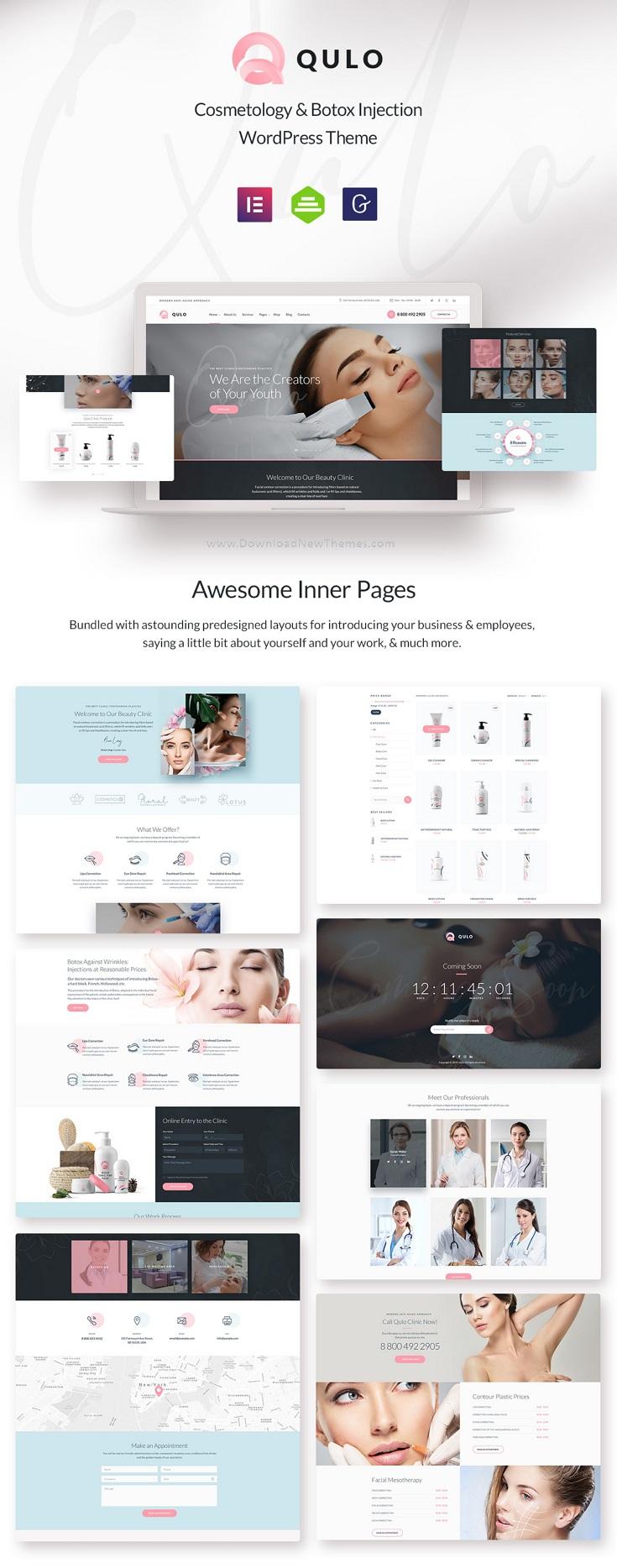 Cosmetology and Botox Injection WordPress Theme