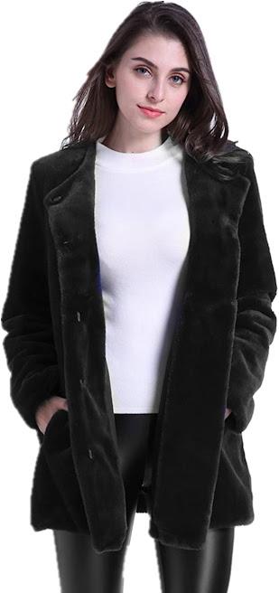 Vintage Faux Fur Jackets Coats for Women