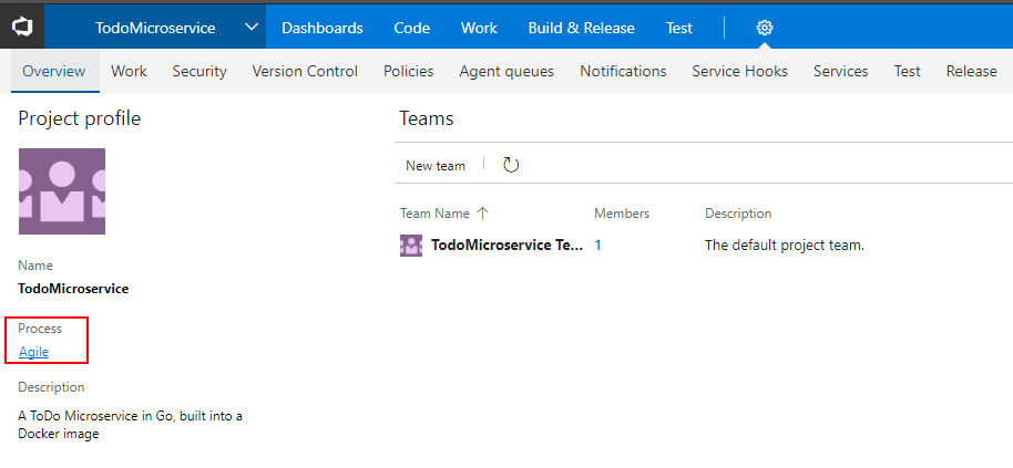 Changing Columns on a VSTS Sprint Board