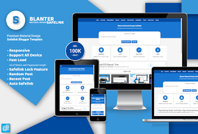 Blanter Safelink Blogger Material Design Template