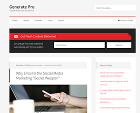Free Download Generate Pro Theme by StudioPress