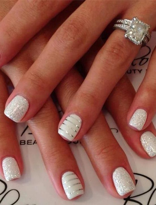 Simple Ring Nail designs for wedding 2016 spring