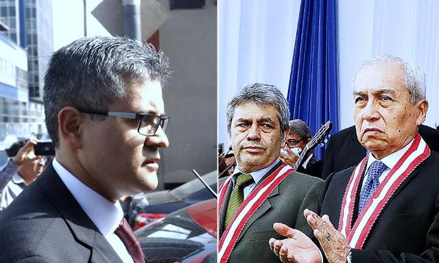 Fiscal José Domingo Pérez denuncia agresión contra su esposa por parte de Tomás Gálvez y Pedro Chávarry