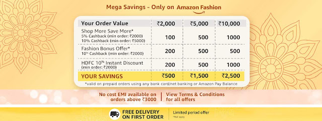 Mega savings only at Amazon