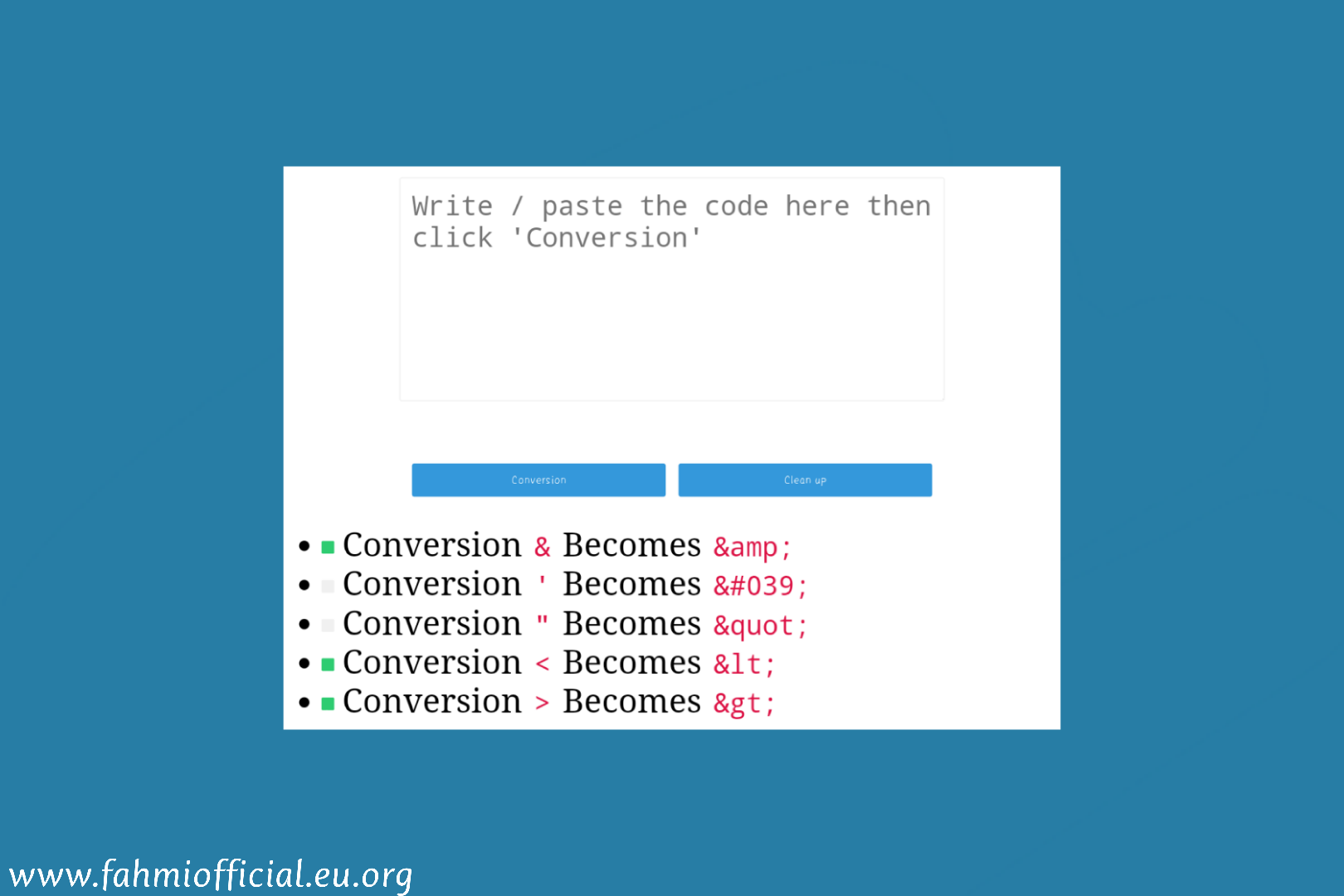 How to make a Convert Html Code on a Static Page Blogspot