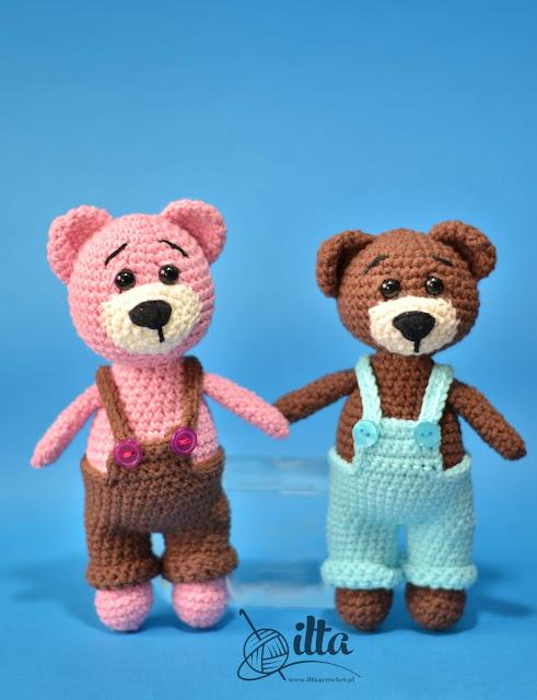 szydełko amigurumi crochet teddy bear