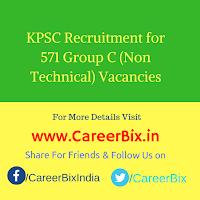 KPSC Recruitment for 571 Group C (Non Technical) Vacancies