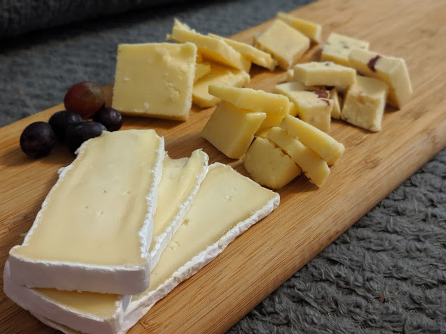 A selection of cheeses from Matthew's Cheese via Grainger Market Delivery