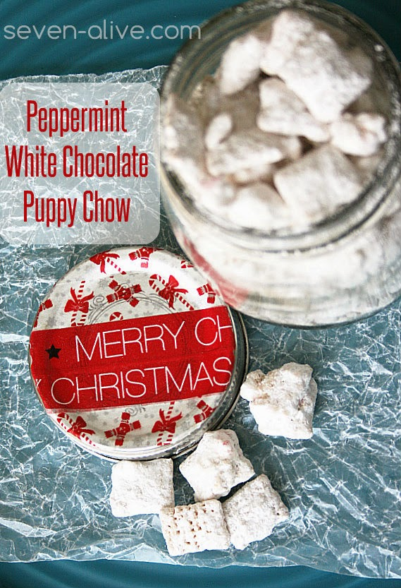 Peppermint White Chocolate Puppy Chow Recipe