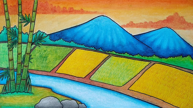gambar pegunungan anak sd
