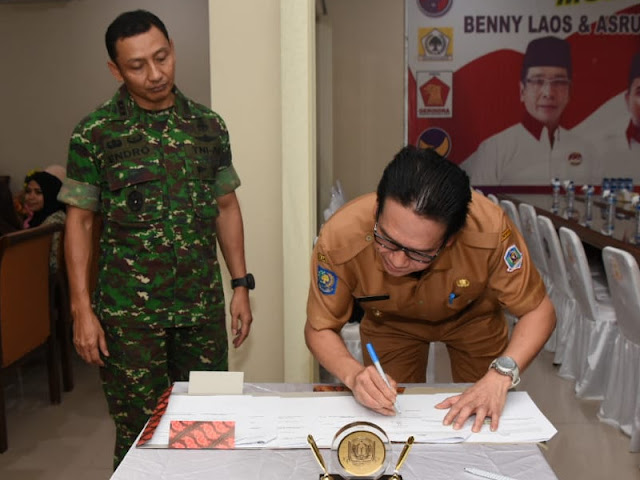 Endro Satoto dan Benny Laos Tandatangani Pembangunan Kodim Pulau Morotai