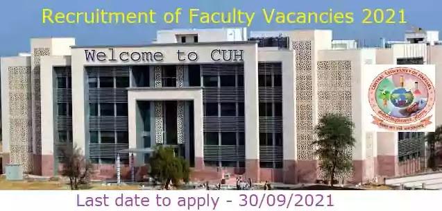 Central University of Haryana Faculty Recruitment 2021