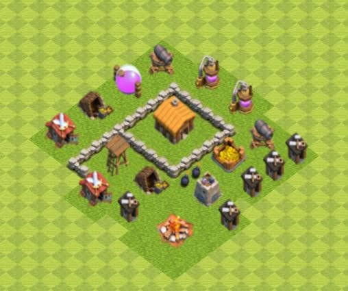 Base COC TH2 Trophy 2