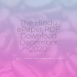 The Hindu ePaper PDF Download December 2020