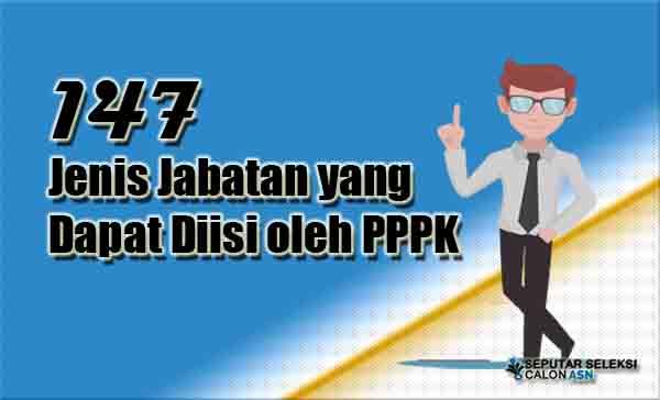 147 Jenis Jabatan yang Dapat Diisi oleh PPPK