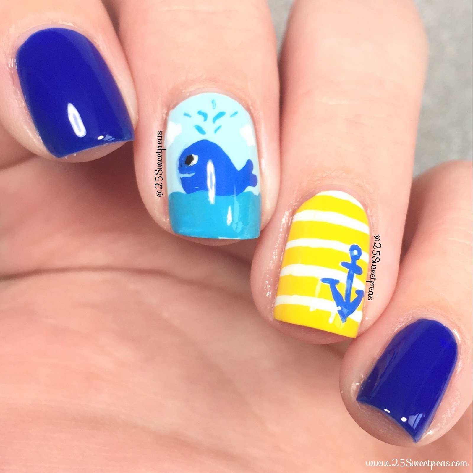 Beach Nails | A Whale of a Time - 25 Sweetpeas