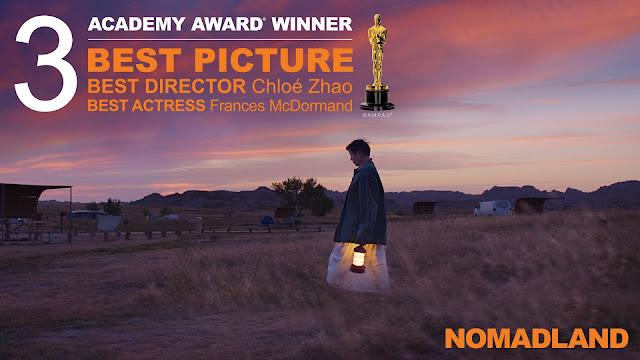 恭喜 Searchlight Pictures《浪跡天地》(NOMADLAND)榮獲第93屆 奧斯卡金像獎 三項大獎