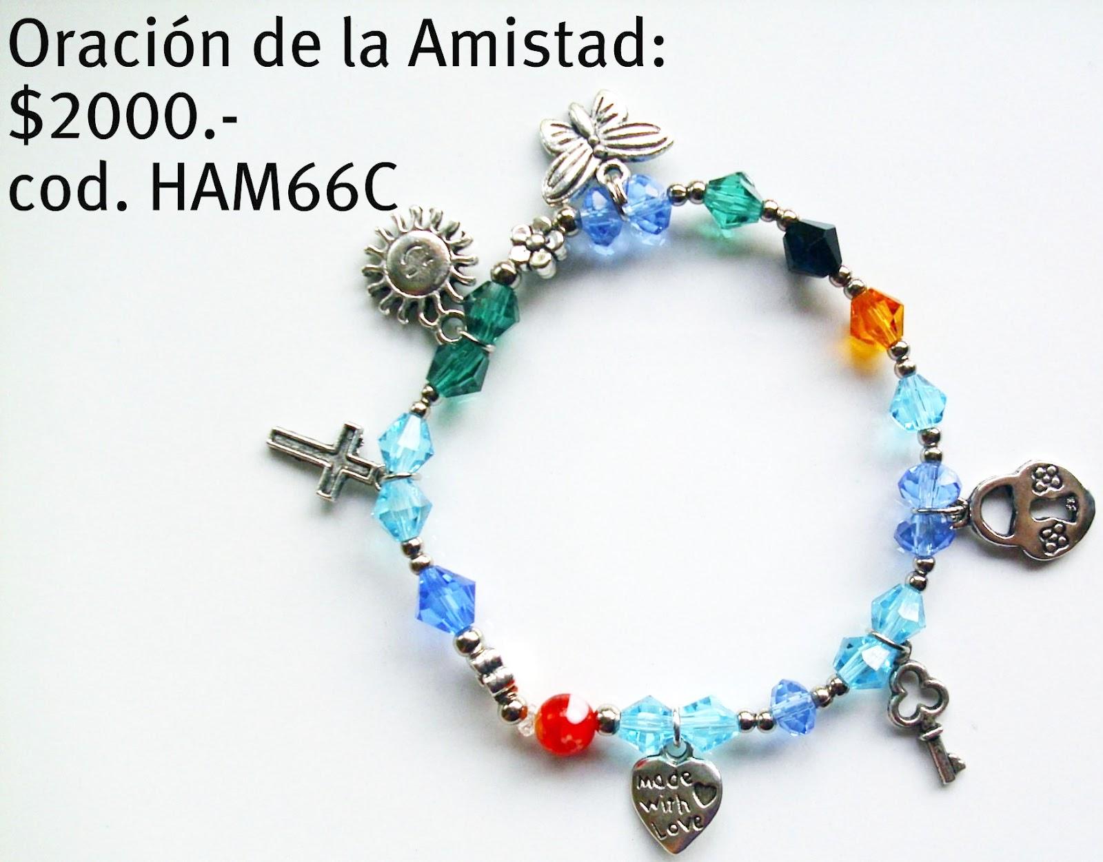 874e013a4a1d Stilos online  Catálogo  Pulsera ORACIÓN DE LA AMISTAD