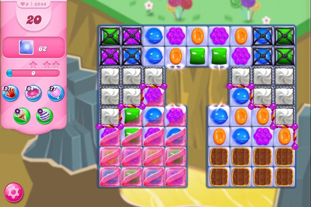 Candy Crush Saga level 6244
