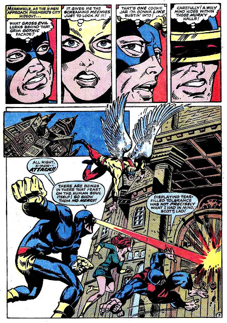 X-men v1 #50 marvel comic book page art by Jim Steranko