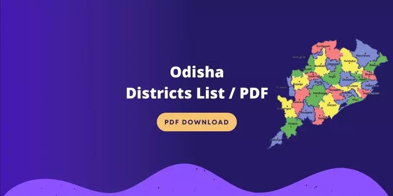 Odisha Districts List 2021