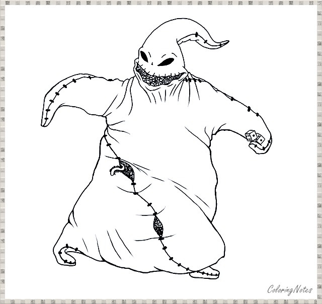 10 Nightmare Before Christmas Coloring Pages Free Printable - COLORING  PAGES FOR KIDS FREE PRINTABLE