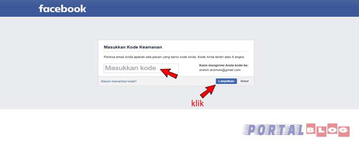 kode keamanan facebook