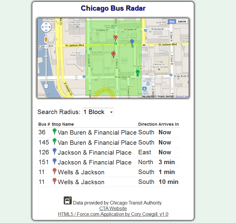 Bus Route Map Chicago on