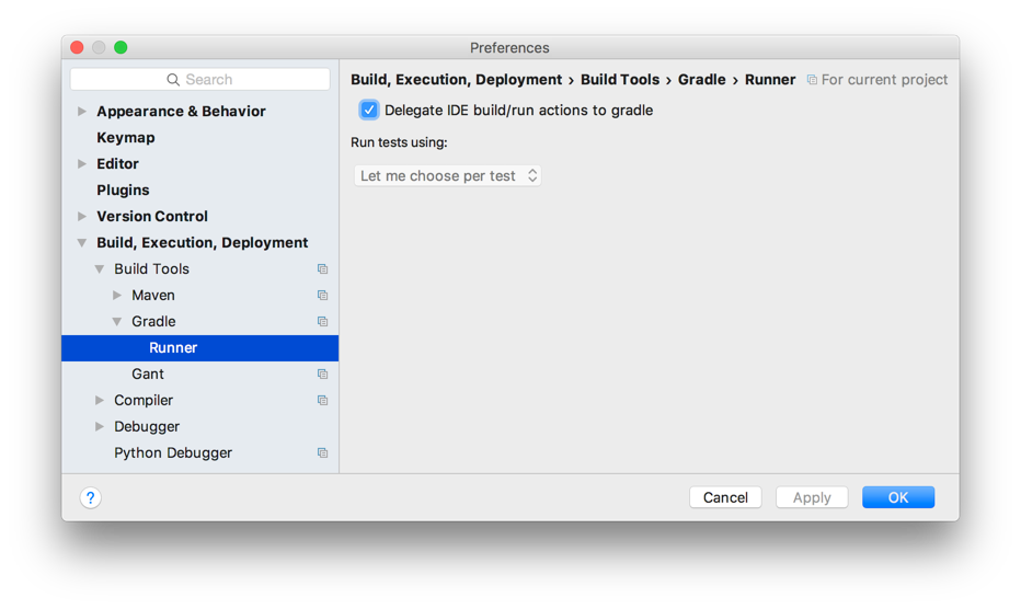 Gradle Goodness: Delegate Build And Run Actions To Gradle In