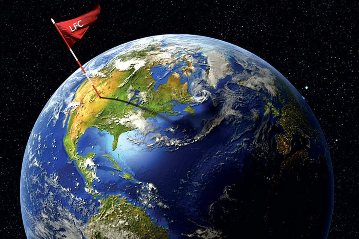 The-earth-with-an-LFC-flag-stuck-in-it